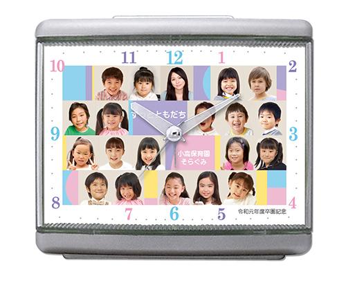 C33-pastel-colors-single-photo-clock