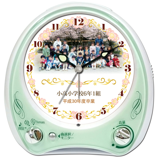 C35-sakura-frame-group-photo-melody-alarm-clock