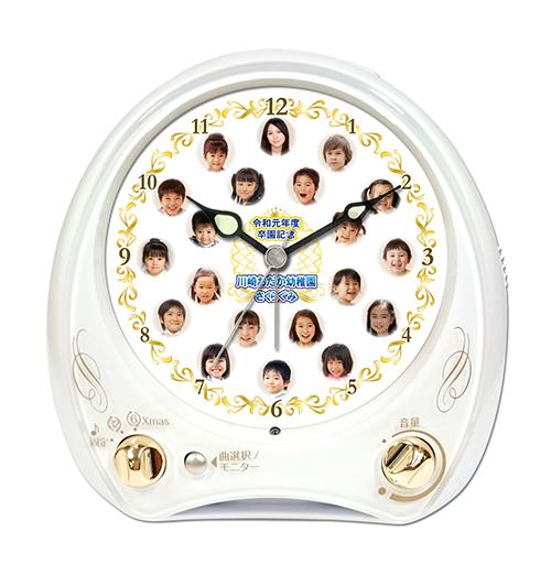 C35-w-gold-frame-individual-photo-clock