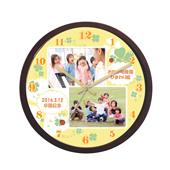 WK21-four-leaf-clover-yellow-present-to-the-teacher-clock